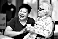 Happy Residents of Villa Cathay in Monochrome