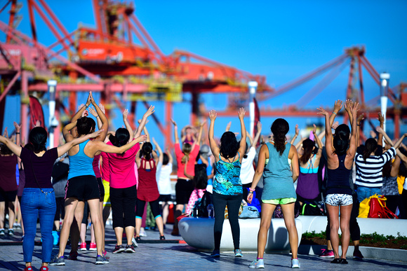 Free Zumba class at Canada Place